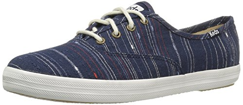 Keds Womens Mästare Slub Strip Mode Sneaker Peacoat Navy