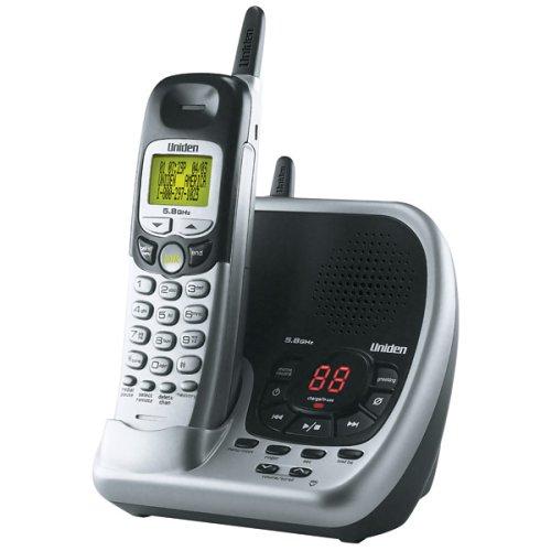 Uniden EXAi5580 5.8 GHz Cordless Phone w/Answering Machine Base