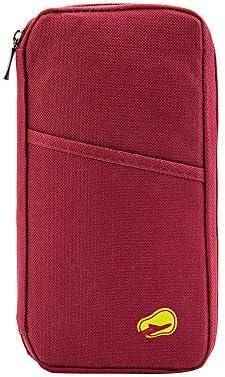 パスポートケーススキミング防止 パスポートバッグ 防水 パスポートカバー 多機能収納ポケット 航空券 クレジットカード 小銭 紙幣 カード 小銭 ペン 鍵など収納可 大容量 トラベルウォレッド 7色選択可能