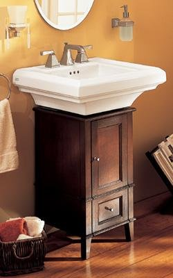 "American Standard TOWN SQUARE CLASSIC CADDIE WITH PEDESTAL SINK WITH 8"" CENTERS 9378335.020"