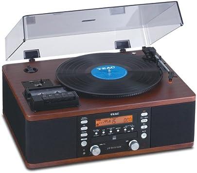 Teac lpr550-usb grabadora de CD con Cassette Giradiscos (nogal ...