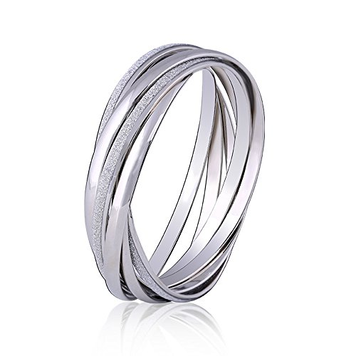 [Myun Multi Layer Cross Round Ring Silver Plated Bangle Bracelet for Women Fashion Jewelry] (Simple Halloween Costumes For High School)