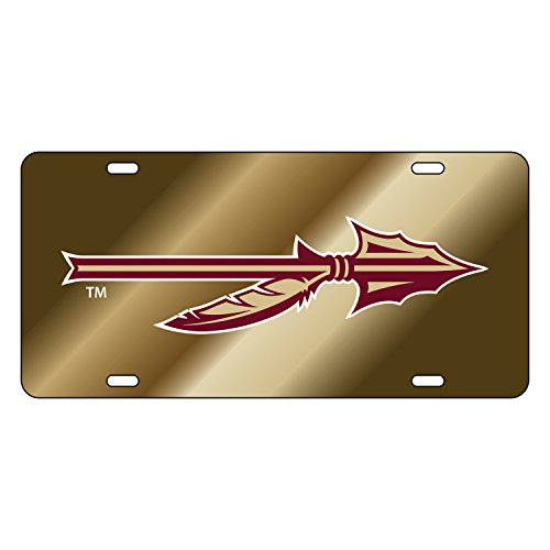 Fsu Spear (Florida State Seminoles Tag GOLD MIR FSU SPEAR DECAL TAG)
