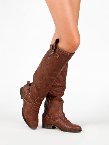 Premium High Light Breckelles Outlaw Brown Knee Women's 81 Boot 1OSWAqCUn