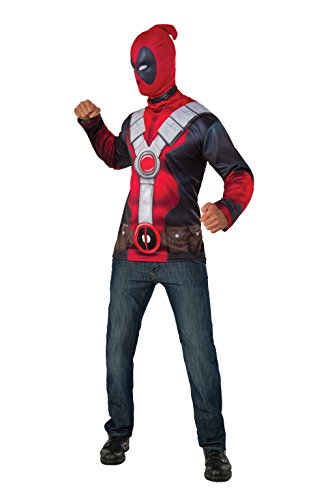 Deadpool Adult Mens Costumes (Rubie's Costume Co. Men's Deadpool Costume Top, Red, Standard)