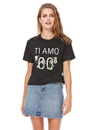 MISS SIXTY T-Shirts For Women M, Black