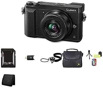 Panasonic Lumix DMC-GX85 Digital Camera w/12-32mm Lens (Black), 64GB Memory, Cap Keeper, Memory Card Wallet, Memory Card Reader, Camera Accessory Kit, Carrying Case (DMC-GX85KK)