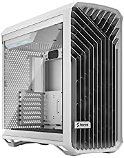 Fractal Design Torrent White E-ATX Tempered Glass Window High-Airflow Mid Tower Computer Case, FD-C-TOR1A-03