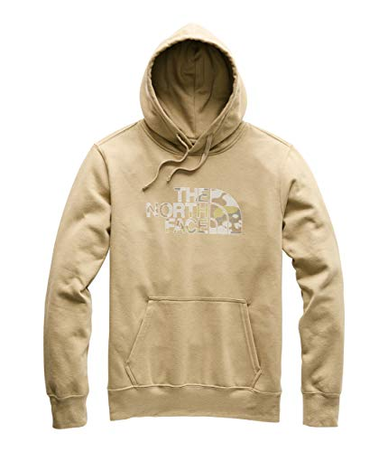 (The North Face Men's Half Dome Pullover Hoodie Kelp Tan/Moab Khaki/Woodchip Camo Desert Print Small)