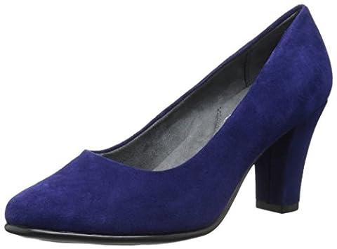 Aerosoles Women's Dolled Up Pump,Blue Suede,7.5 M US - Blue Suede Pump Shoes