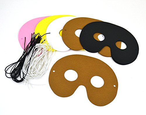 Bespoke by Crafty Capers SALE - 30 Farm Animal Coloured Card Half Face Masks For Kids Crafts