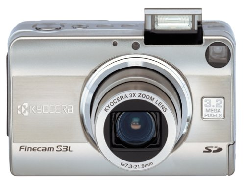 Kyocera Finecam S 3L 3.2MP Digital Camera w/ 3x Optical Zoom