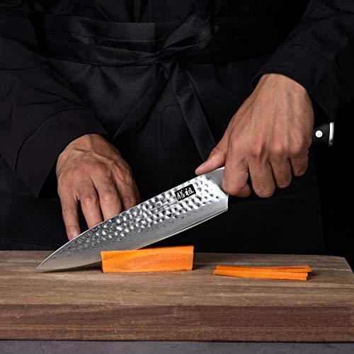 SHAN ZU Coltello di Damasco Coltello da Chef Giapponese 3