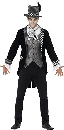 [Dark Mad Hatter Deluxe Adult Costume] (Deluxe Mad Hatter Costume Uk)