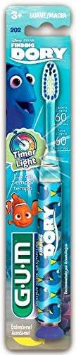 Escova Infantil que Pisca GUM Procurando Dory, cerdas macias, pisca por 60 segundos, Gum, Sortidos