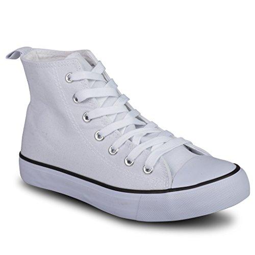 Twisted Women's KIX Hi-Top Casual Fashion Sneaker -WHITE, Size 8