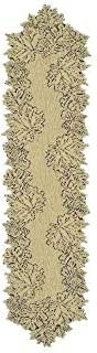 product image for Heritage Lace Leaf 14-Inch by 68-Inch Runner, Goldenrod