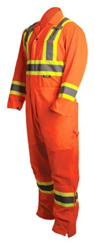 Terra 116521ORM High-Visibility Reflective Safety Coverall, Orange, Medium by Terra (Image #1)