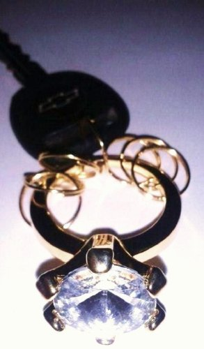 Engagement Ring Keychain - Avon Diamond Bands