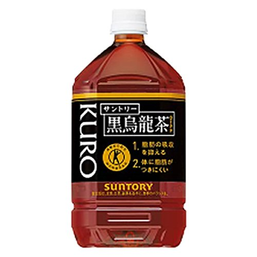 Suntory Black Oolong [food for specified health use Tokuho] 1L PET bottles X12 pieces