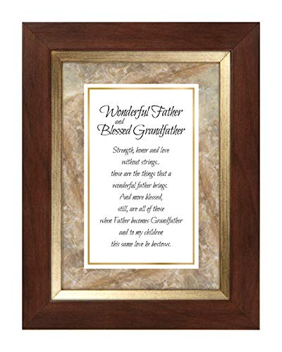 US Gifts Wonderful Father and Blessed Grandfather 7'' X 9'' Framed Tabletop