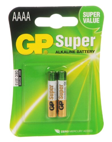 2 Pack of GP AAAA Alkaline Batteries. Fits Streamlight Flashlights