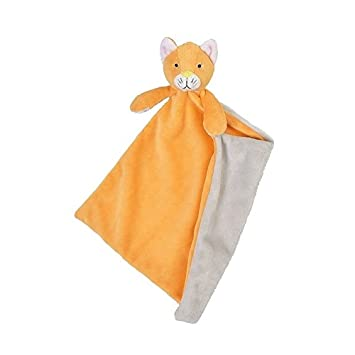 Happy Horse - Peluches et Doudous - Doudou semi plat Chat Cally - Coloris : Orange