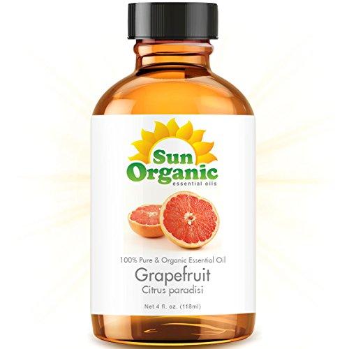 Грейпфрут - большой 4 OUNCE - органическая, 100% чистые эфирные масла (Best 4 жидких унций / 118мл) - Sun Органическая