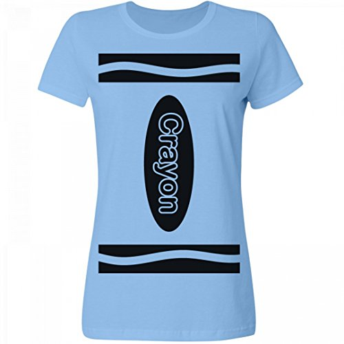 Sky Blue Crayon Costume (Sky Blue Crayon Costume: Misses Relaxed Fit T-Shirt)