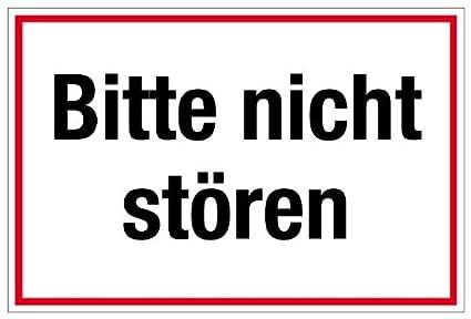 Hinweisschild Bitte Nicht st/ören 10 x 30 cm Kunststoff