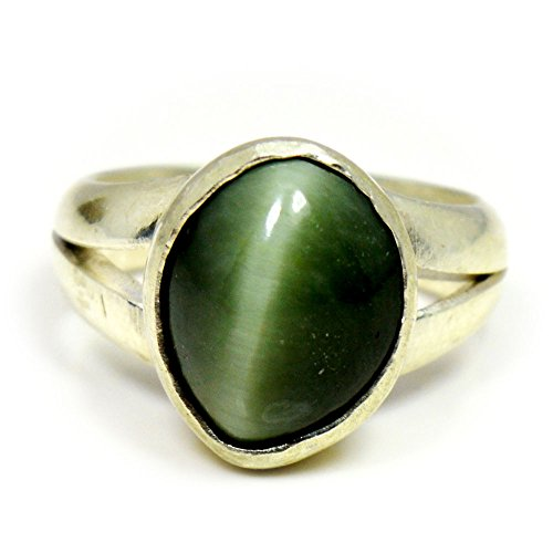 Choose Your Color Genuine Gemstone Chakra Healing Ring Sterling Silver 5 Carat Handmade Jewelry Size 5-13