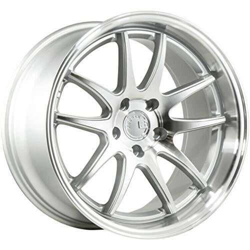 AodHan DS02 (Silver Face w/Machined Lip) ;18x9.5 Wheel Size, 5x114.3 Lug Pattern, 73.1mm Hub Bore, 15mm Off Set.