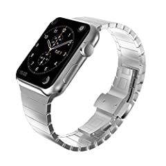 Compatibility:Compatible for Apple Watch Series 3/2/1 42mm & Series 5/4 44mm.Fits 160-200mm (6.3-7.8 inch) wrists. (Not for small wrists) Note:1. To make your watch band more durable, please keep the band away from long time damp, the ban...