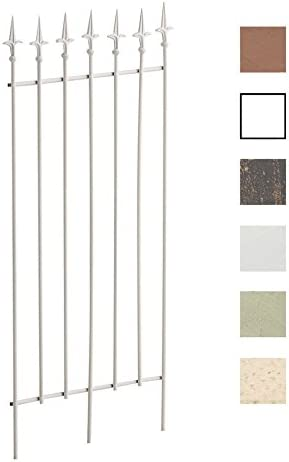 CLP Reja De Metal Elisa Decorativa I Soporte para Plantas Enredaderas Estilo Rustico I Reja De Jardín con 100cm De Altura I Color: Blanco: Amazon.es: Hogar