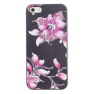 Special Flowers Pattern PC Hard Case with Black Frame for iPhone 5/5S