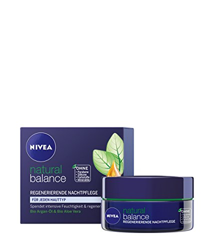 Nivea Natural Balance Regenerierende Nachtpflege, Gesichtspflege, 1er Pack (1 x 50 ml)