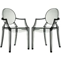 EEI-905-SMK Casper Dining Armchairs Set of 2 in Smoke Color