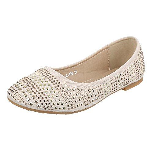Ital-Design - Bailarinas Mujer Beige - beige