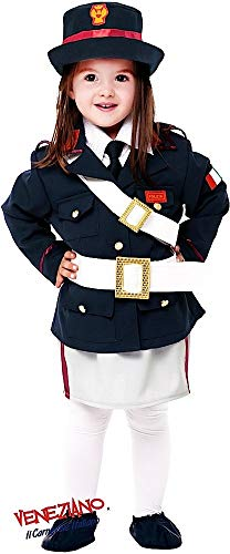 Italian Made Deluxe 7 Piece Baby & Older Girls Police Cop Fancy Dress Costume Outfit 0-10 Years (3 ()