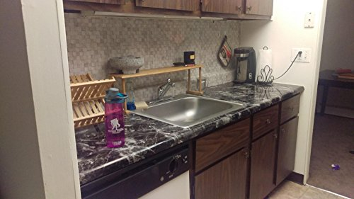 Very Berry Sticker Black Grey Granite Look Marble Effect