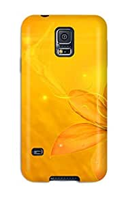 Awesome Yellow Flip Case With Fashion Design For Galaxy S5