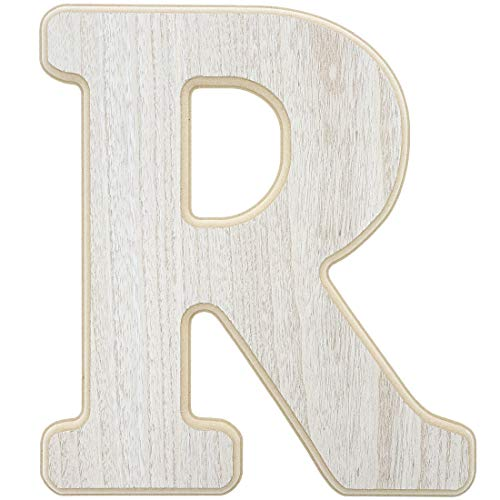 Unfinished Wood Letter R Cutout for DIY Painting,