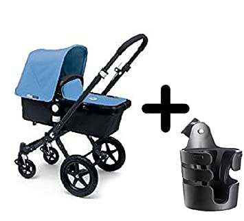 bugaboo cameleon 3 stroller 2015 black frame and black base with new extendable sun canopy - Black Canopy 2015