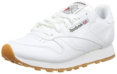 Reebok - Classic Leather, Scarpe da Ginnastica Bambino Bianco (White (White/Gum - 2))