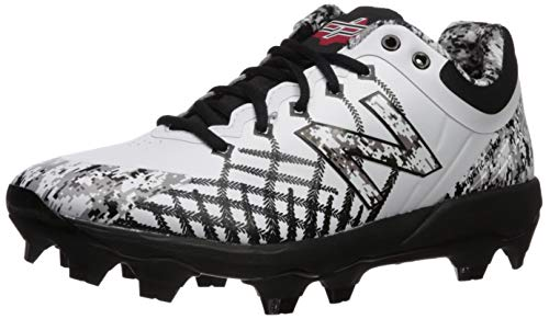 New Balance Men's 4040v5 Molded Baseball Shoe, Pedroia CAMO White/, 8 2E US
