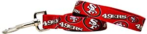 Yellow Dog Design San Francisco 49ers Licensed NFL Dog Leash, Large, 1-Inch by 60-Inch