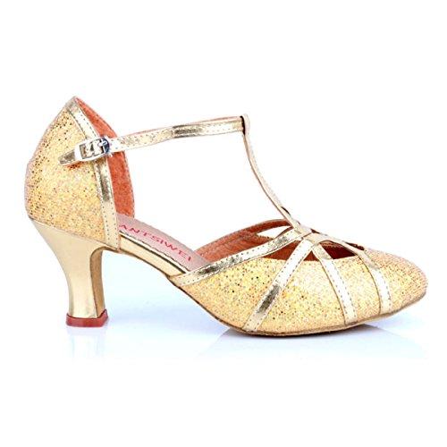 Shoe Della Satin Donne Scarpe Ragazza Ballroom Colori silver Sandali Professionista Dance Latino Delle altri Superiore Med Salsa 37 EYwxYp74