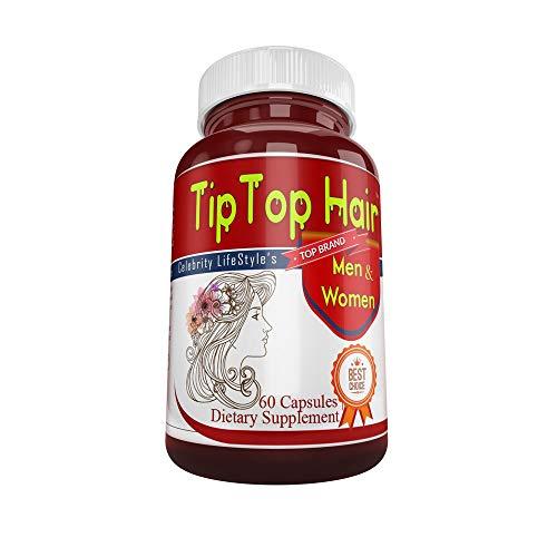 Tiptop Hair- Hair Growth Pills Longer Hai Stronger Thicker Nails! 22 Potent Vitamins Assists Anti-Aging Skin. Stunning Results in 30 daysLong Sexy Beautiful Hair,Fast Hair Growth Guaranteed