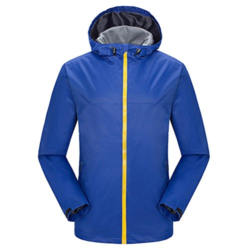 Jackets Bello Single Men Royal Waterproof Trench Blue Layer Outdoor Warm Hooded Coat Zhuhaitf 6Ugqw