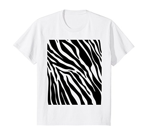 Kids Zebra Print Shirt, Simple Halloween Costume Idea Gift 6 - Girl Minute Halloween Last Costume Ideas